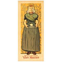 "Adolph Willette ""Cacao Van Houten"" Original 1896 Poster Chaix"