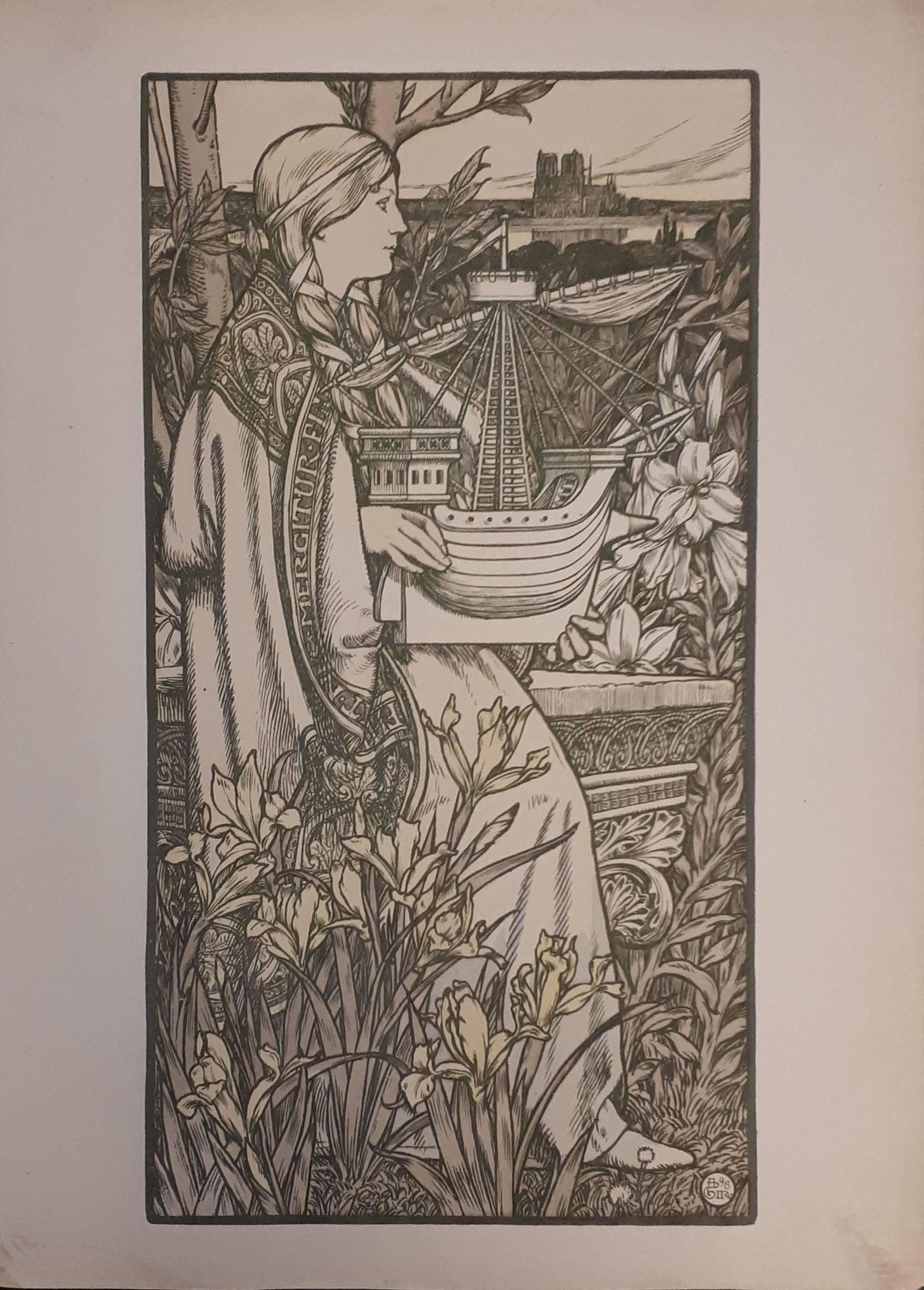 Lutece - Original lithograph - 1897