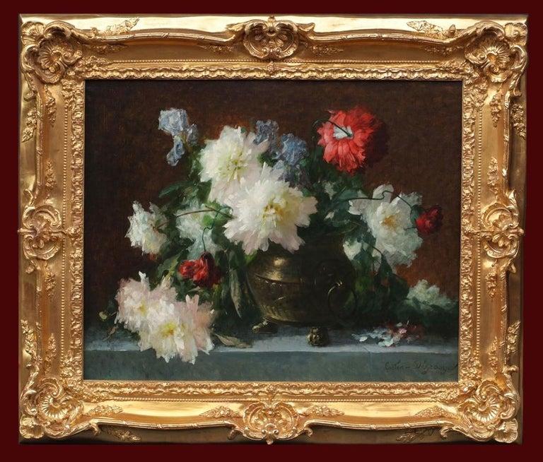 Adolphe Louis Castex-Degrange Still-Life Painting - Flowers Painting 19th Century