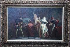 Artist in his Studio - French 19th century art figurative interior oil painting