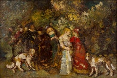 The Love Letter, Monticelli (19th Century Impressionistic pre-modern Painting)