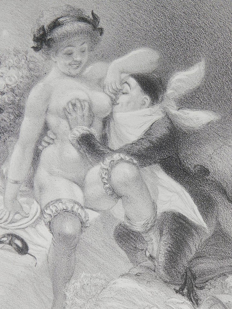 Adolphe Willette Lithograph Original Hand Signed Seven Deadly Sins Erotic Nude For Sale 4