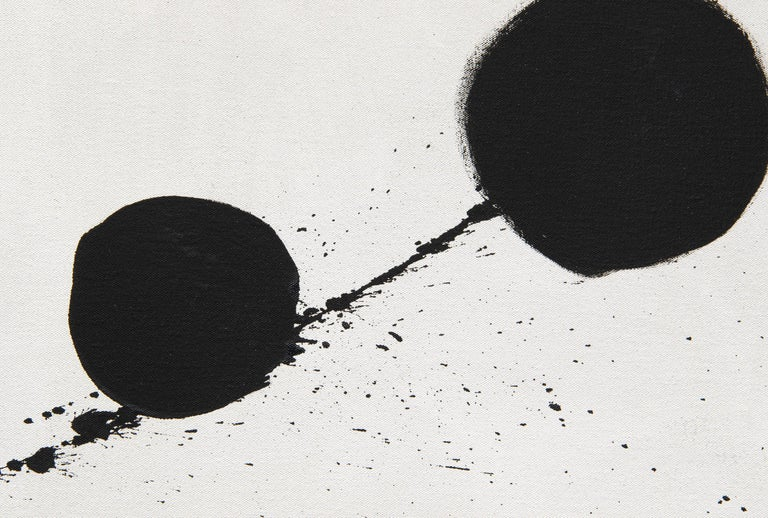 Azimuth - Gray Abstract Painting by Adolph Gottlieb