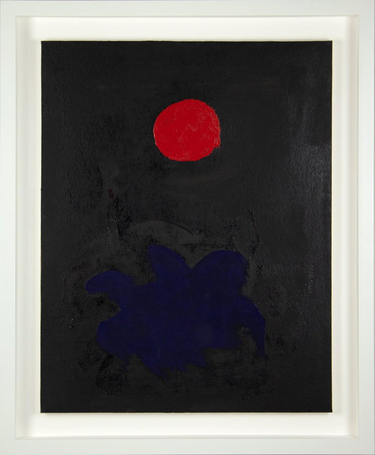 Blue on Black - Painting by Adolph Gottlieb