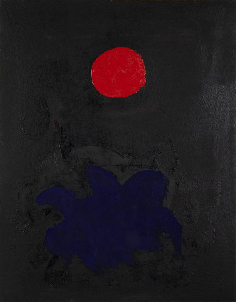 Adolph Gottlieb Abstract Painting - Blue on Black