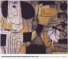 2020 Afte Adolph Gottlieb 'Figurations of Clangor' Abstract Expressionist Spain