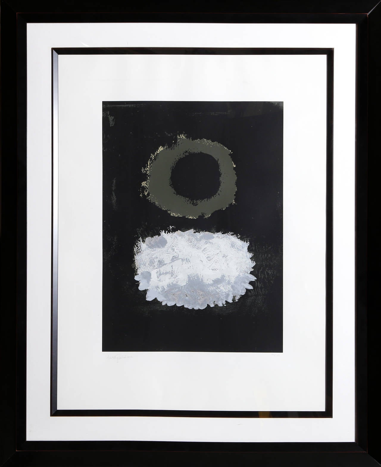 Black Field, Abstract Expressionist Silkscreen by Adolph Gottlieb 1972