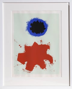 Peace, Abstract Expressionist Silkscreen by Adolph Gottlieb 1970