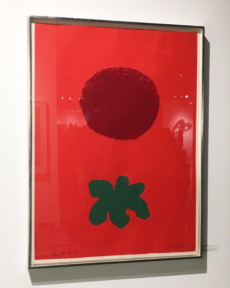 Red Ground - Print by Adolph Gottlieb