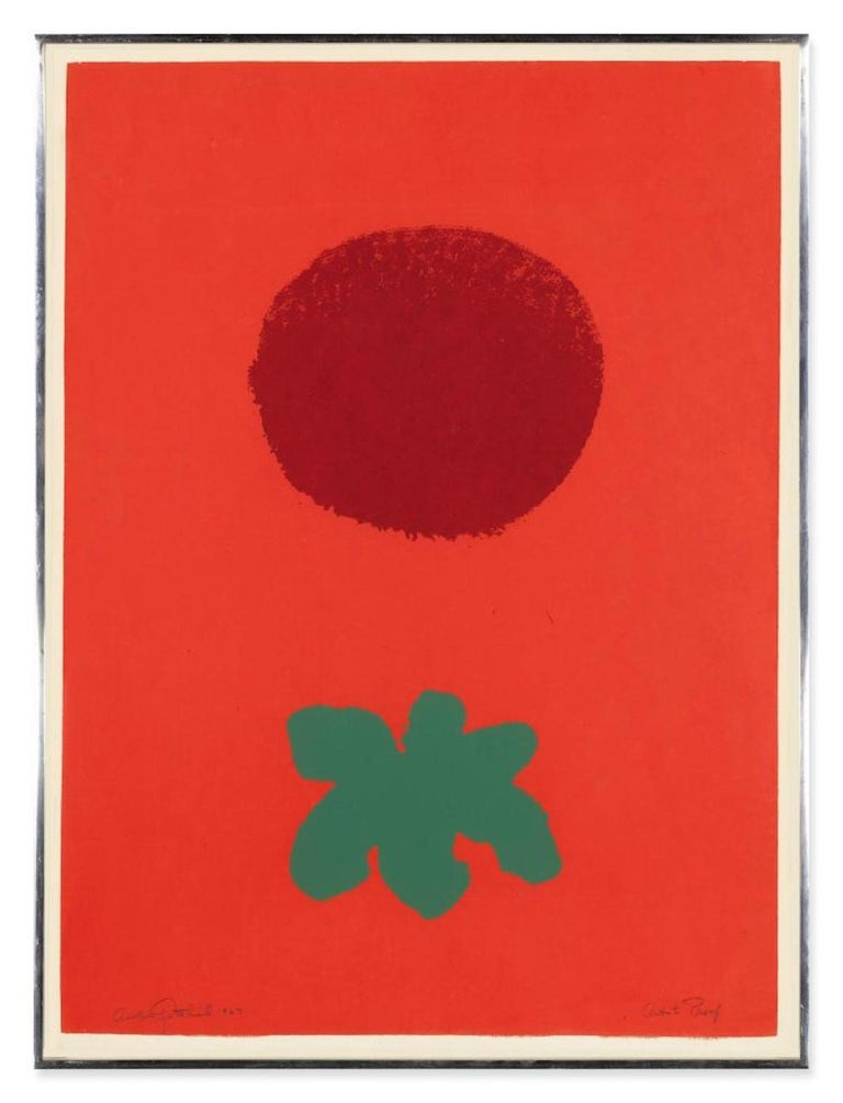 Adolph Gottlieb Abstract Print - Red Ground