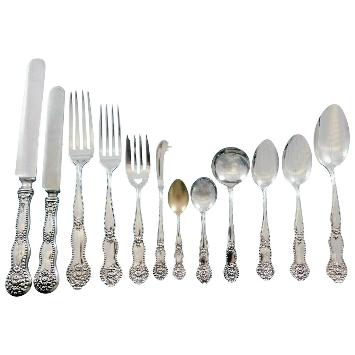 Adolphus By Mount Vernon Sterling Silver Place Soup Spoon 7 Flatware