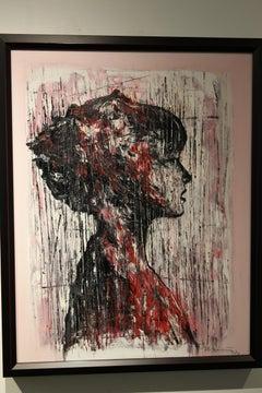 Isabel, oil and mixed media, Emerging Cuban Artist. Portrait