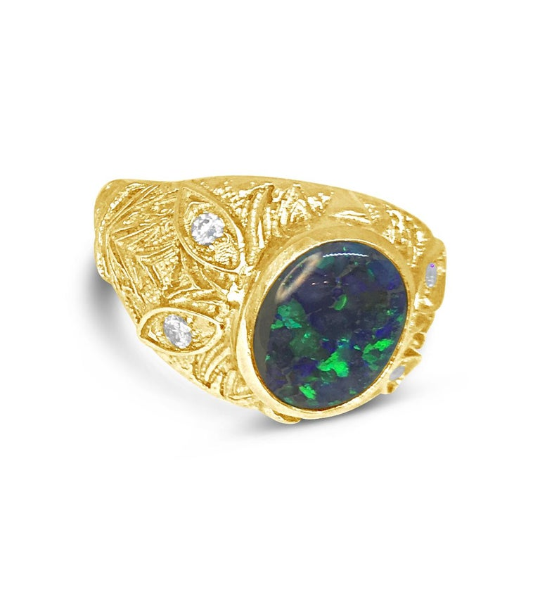 Contemporary A'donna Opal Ring For Sale