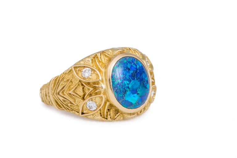 A'donna Opal Ring In New Condition For Sale In Aspen, CO
