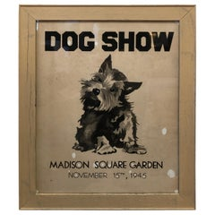 Adorable Graphic Vintage Dog Show Poster