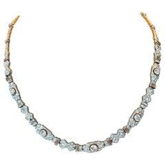 Adorable Platinum Art Deco Diamond Necklace or Bracelet