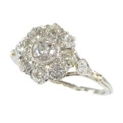Adorable Platinum Diamond Vintage Art Deco Engagement Ring