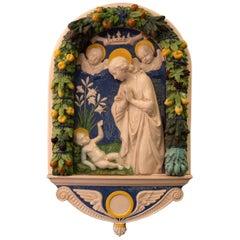 Adoration of the Christ Child circa 1890 After Andrea Della Robbia