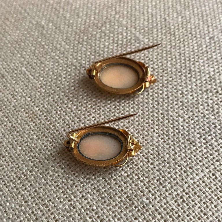 Froment-Meurice Set in 18 Carat, Yellow Gold and Cameo, 19th Century For Sale 8