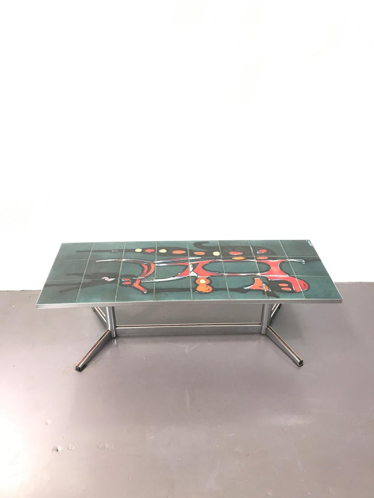 Mid-20th Century Mid-Century Modern Adri Danish Ceramic Coffee Table, 1960s For Sale
