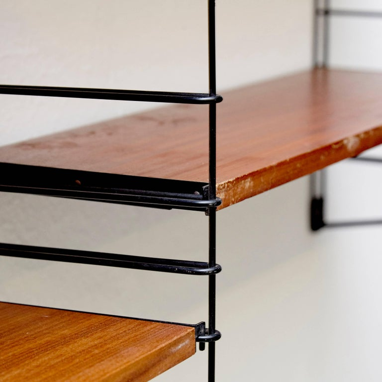 Dutch Adriaan Dekker for Tomado Three Modular Wall Hanging Shelves, 1958 For Sale
