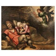 """Adriaen Bloemaert """"Rest on the Flight into Egypt"""" 17th Century"""