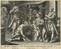 Adrian Collaert 17th Century engraving Martin de Vos The Visitation of the Magi