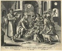 Adrian Collaert early engraving Martin de Vos Pastores venerunt festinantes