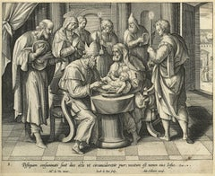 Adrian Collaert early engraving Martin de Vos The Circumcision of Christ
