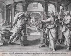 Adrian Collaert Martin de Vos 17th Century engraving Healing the paralytic