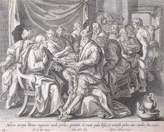 Adrian Collaert Martin de Vos 17th Century Engraving Mary Washes Jesus's Feet