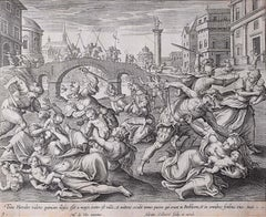 Adrian Collaert Martin de Vos 17th Century Engraving Massacre of the Innocents