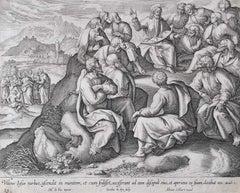 Adrian Collaert Martin de Vos 17th Century engraving The Sermon on the Mount