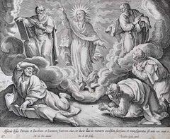 Adrian Collaert Martin de Vos 17th Century engraving The Transfiguration