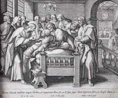 Adrian Collaert Martin de Vos 17th Century Healing Peter's Mother-in-law