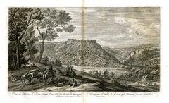 Veue du Chasteau Ste. Anne, comme il se voit par derriere la Montagne.