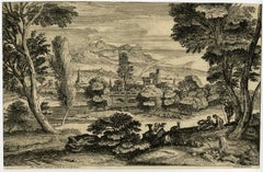 Untitled - Italianate landscape, a city in the background [...].