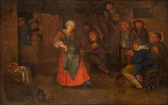 A Women Dancing to the Music from a Violin, Adriaen van Ostade (follower of)