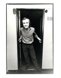 Phil Collins in Doorway Vintage Original Photograph