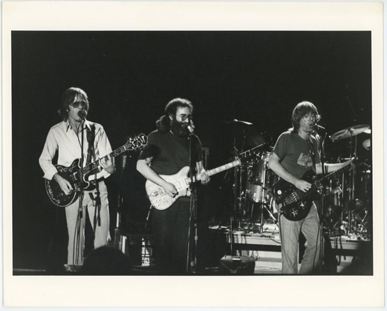 The Grateful Dead Playing in a Concert in 1978
