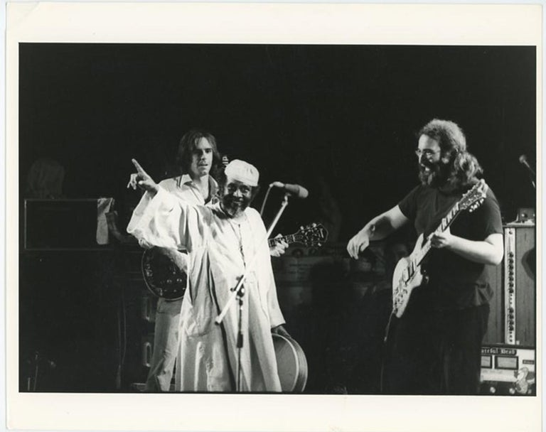 Adrian Boot Black and White Photograph - The Grateful Dead Jerry Garcia Egypt 1978