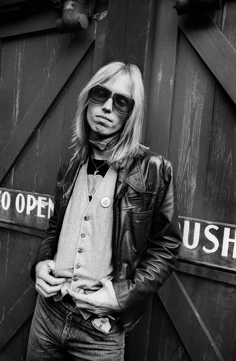 Adrian Boot Black and White Photograph - Tom Petty