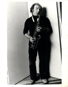 Van Morrison Playing Saxophone Vintage Original Photograph