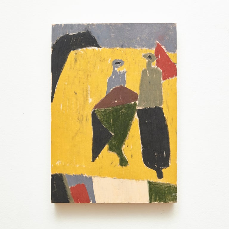Spanish Adrian Contemporary Abstract Painting on Wood, 2019 For Sale