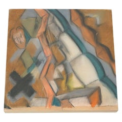 Adrian Contemporary Abstract Painting on Wood, 2020