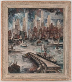 """New York Hudson River"" by Adriaan Lubbers"