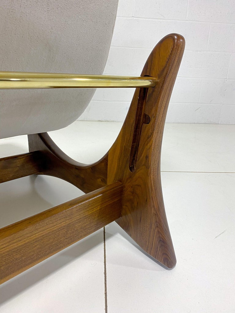 Mid-Century Modern Adrian Pearsall Adjustable Lounge Chair with Ottoman For Sale