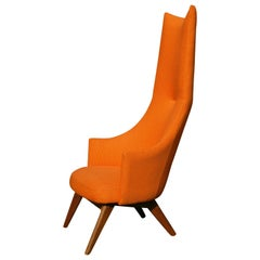 Adrian Pearsall Atomic Age High Back Lounge Chair, circa 1955
