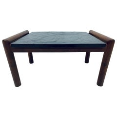 Adrian Pearsall Black Slate and Walnut Side Table