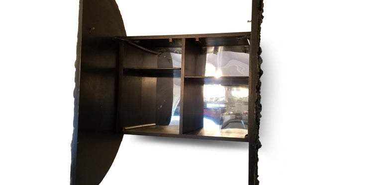 Mid-Century Modern Adrian Pearsall Brutalist Hanging Disc Bar for Craft Associates